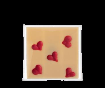 Weiße Herzchen-Tafel