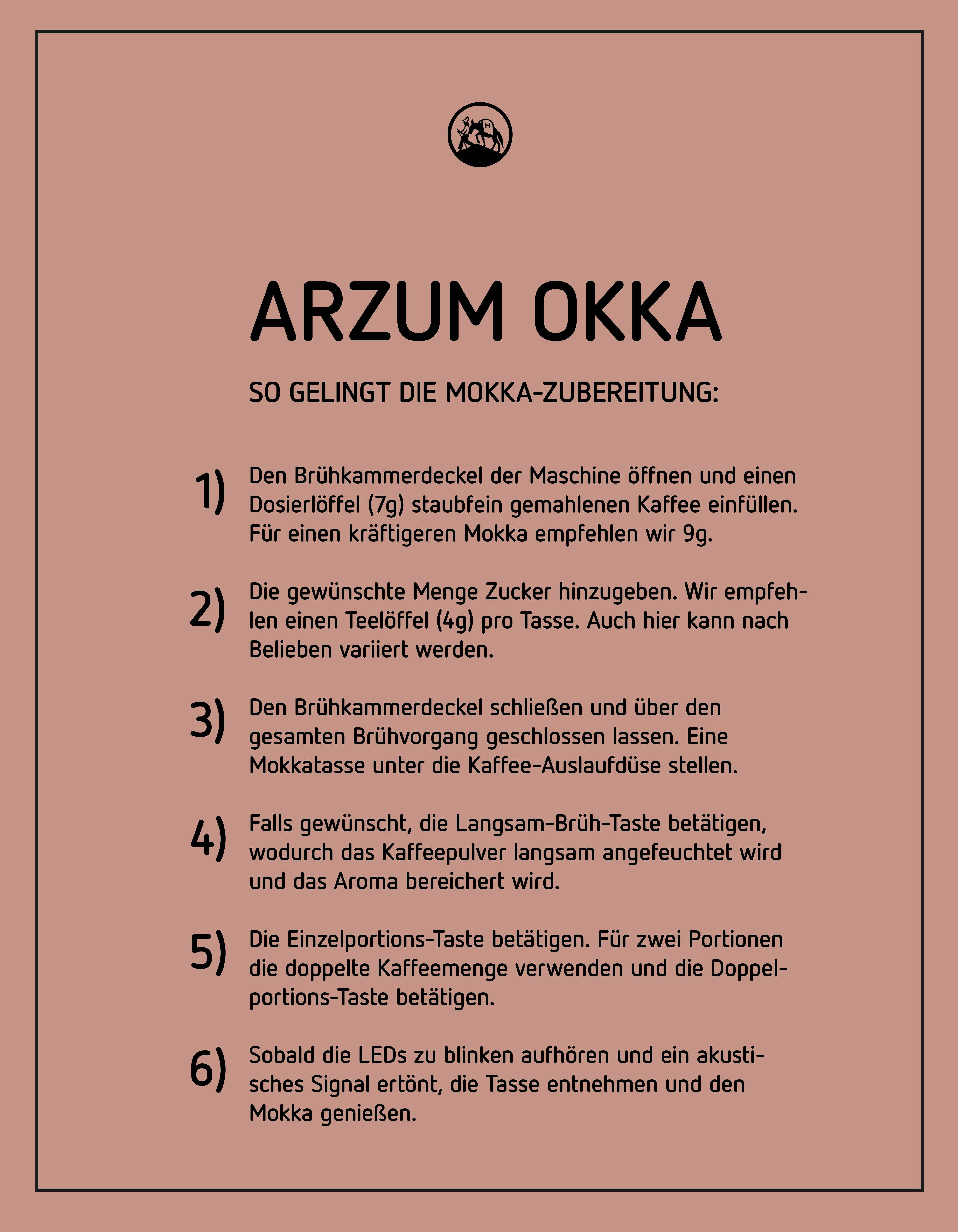 Mokkazubereitung mit der Arzum Okka