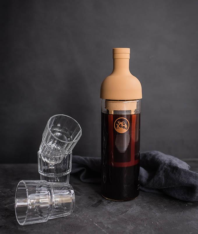 filter-in-bottle für die Zubereitung von Hochland Cold Brew
