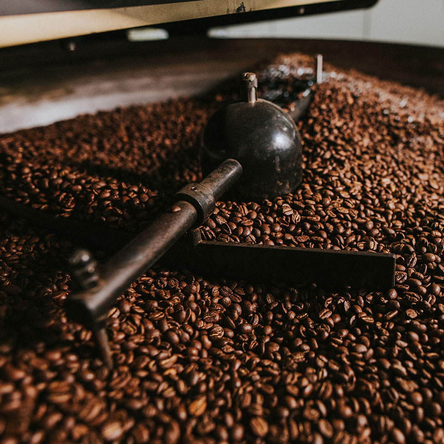 Hochland Kaffee geröstet im Trommelröster