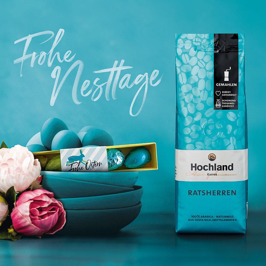 Hochland Kaffee Hunzelmann Ostersortiment Ratsherren in der Limited Edition