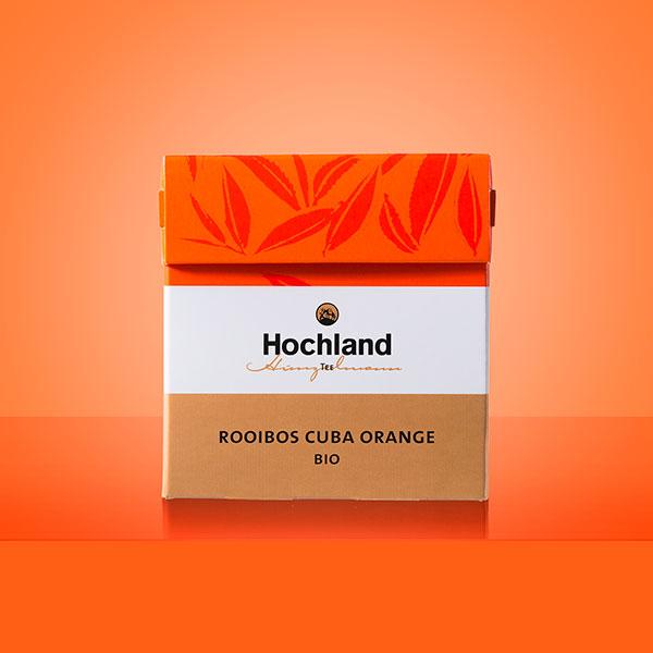 Teeverpackung Rooibos Cuba Orange