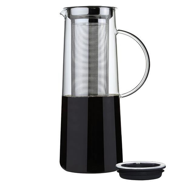 Glaskanne mit integriertem Filter von Zassenhaus zur Zubereitung von Cold Brew Kaffee
