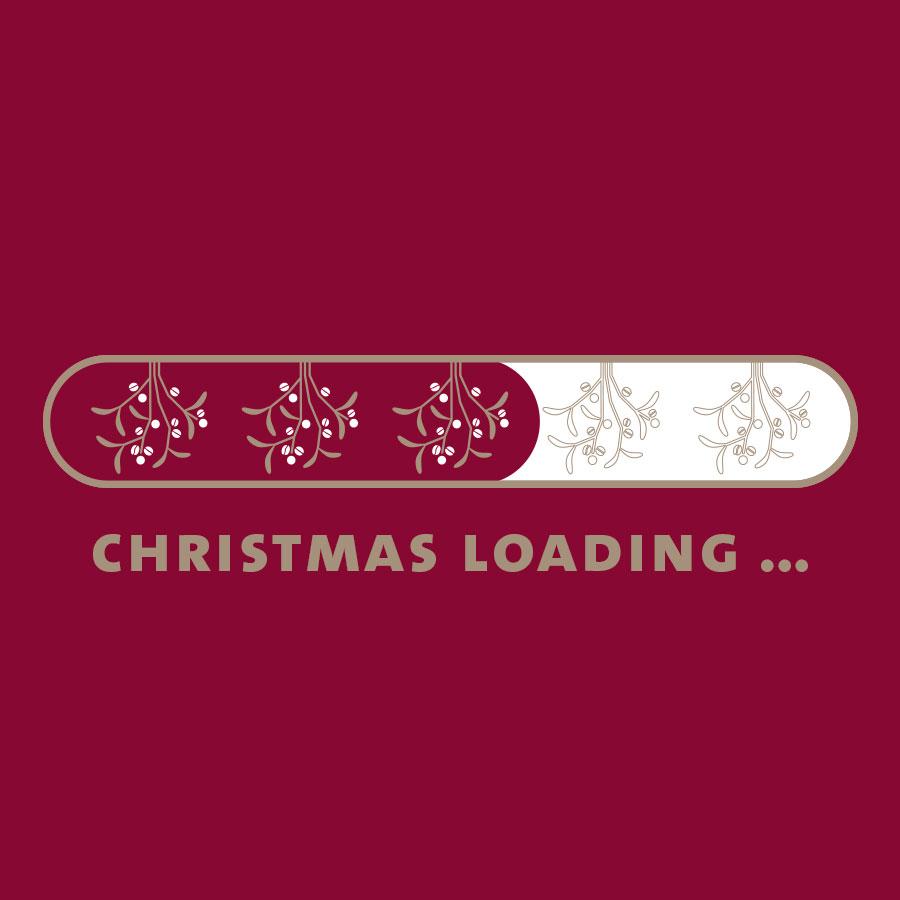 Christmas loading mit Fortschrittsbalken